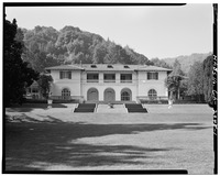 NORTH FRONT, LOOKING SOUTH - Villa Montalvo, Montalvo Road, Saratoga, Santa Clara County, CA HABS CAL,43-SARA.V,1-1.tif
