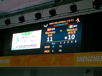 2011 Summer Universiade - Score Monitor in Shenzhen University Gym (20 August)