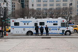 English: Command unit of the NYPD communicatio...