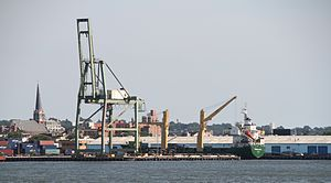 Red Hook Container Terminal - Image: NY Brooklyn Columbia Street Waterfront District IMG 2473