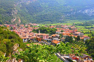 Nago–Torbole - A view of Nago from Penede castle.
