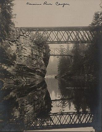 Nanaimo River - Image: Nanaimo River canyon (HS85 10 19017)