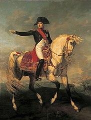 Napoléon sur le champ de bataille de Wagram