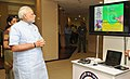 Narendra Modi at the 'Pradhan Mantri Jan Dhan Yojana (PMJDY)' launch - here seen at the Exhibition on Technology and Financial Literacy, in New Delhi. The Minister of State for Commerce & Industry (Independent Charge).jpg