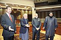 Narendra Modi with the President of Afghanistan, Dr. Mohammad Ashraf Ghani and speakers of two houses of Parliament at the inauguration ceremony of the Afghanistan Parliament, in Kabul on December 25, 2015 (1).jpg