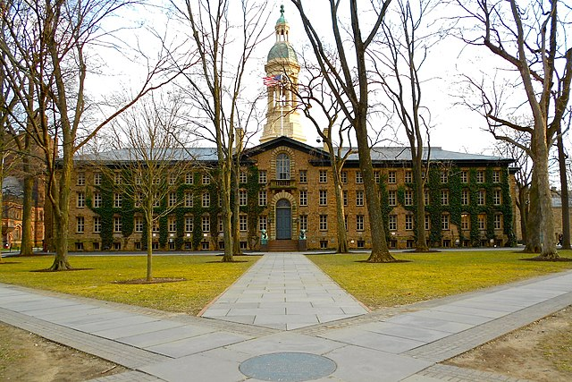 Nassau Hall, Princeton University, photo by user Smallbones on Wikimedia Commons