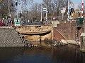 Nassauplein, Nassaukade gesprongen waterleiding kade weggeslagen foto 1.jpg