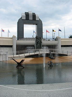 National D-Day Memorial - National D-Day Memorial pool with Overlord Arch