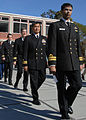 Naval Postgraduate School students walk in formation during a graduation ceremony March 29, 2013, at the school in Monterey, Calif 130329-N-OH194-091.jpg