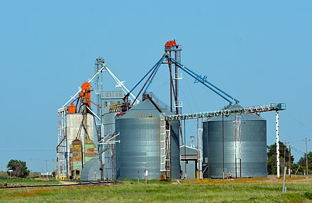 Nebraska grain bins and elevator Nebraska grain silo RAAM 2015 by D Ramey Logan.jpg