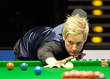 Neil Robertson playing a shot