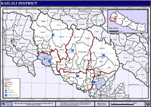 Kailali District - Map of the VDCs in Kailali District