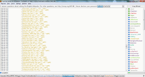Netsplit - A netsplit on freenode, shown in the HexChat IRC client.