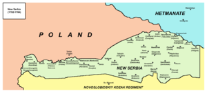 New Serbia (historical province) - Image: New serbia map