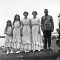 Nicholas II and his daughters on the beach of the Lower dacha.jpg