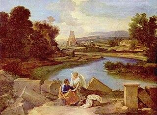 Paysage avec saint Matthieu