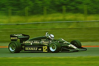 1983 British Grand Prix - Nigel Mansell finished fourth in a Lotus 94T.