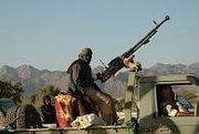 Nigerien MNJ fighter technical gun