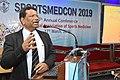 Nisith Ranjan Chowdhury Delivering Lecture - Quality Medical care - SPORTSMEDCON 2019 - SSKM Hospital - Kolkata 2019-03-17 3453.JPG