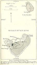 Historische Karte von Tafahi und Niuatoputapu