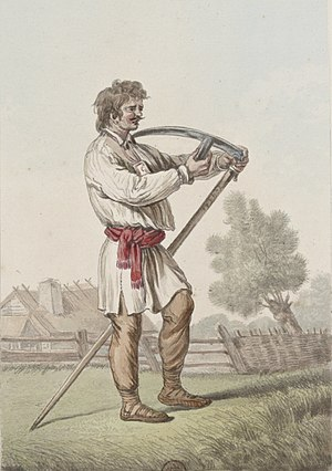 Norblin - Farmer with a scythe 02