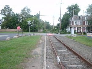 Norwood, New Jersey - The site of the former Erie Railroad station in Norwood on September 11, 2011