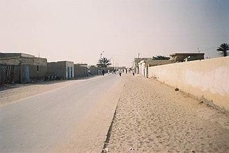 Nouadhibou - A street in Nouadhibou