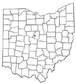 Location of Cardington, Ohio