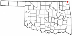 Location of Quapaw, Oklahoma