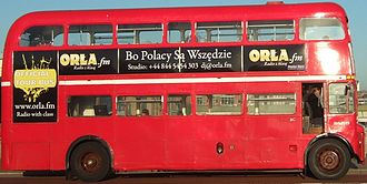 Anglo-Polish Radio - ORLA.fm London routemaster bus since 2010. It can be hired by advertisers