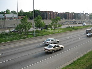 Interstate 290 (Illinois) - I-290 in Oak Park