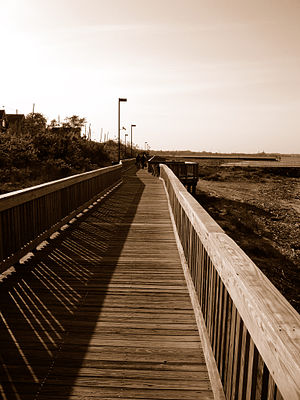 Laurence Harbor, New Jersey - Boardwalk at Old Bridge Waterfront Park