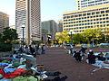 Occupy Baltimore at McKeldin Square October 2011 (Park).JPG