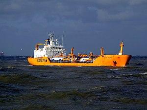 Ocean Primus p1 approaching Port of Rotterdam, Holland 21-Jan-2007.jpg