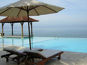 Ocean view from Saman Villas at Bentota, Sri L...