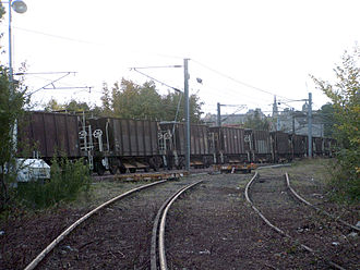 Edinburgh, Leith and Newhaven Railway - The former connection with the East Coast Main Line at Abbeyhill Junction, photographed in 2006.