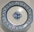 Octagonal plate, early 18th century, Chinese export ware, hard-paste porcelain, Honolulu Museum of Art.JPG