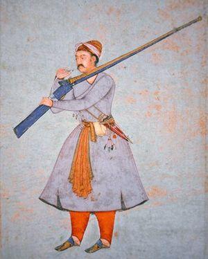 Gunpowder Empires - Mughal matchlock rifle.