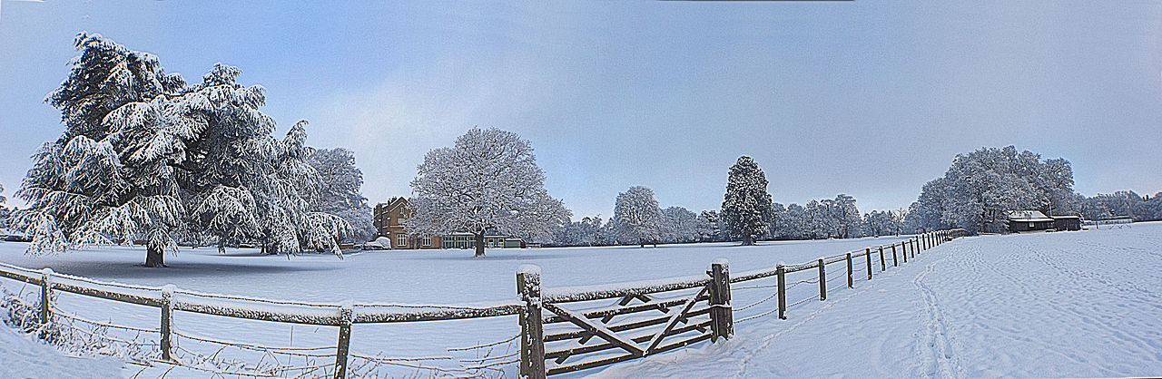 Panoramic view of offley place December 2009