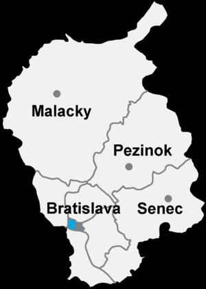 Bratislava 2 - Image: Okres bratislava I