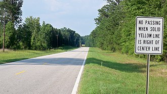 U.S. Route 431 in Alabama - The old alignment of US 431 between Pittsview and the Barbour County line
