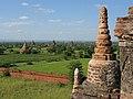 Old Bagan, Myanmar, Brick Buddhist stupas in Bagan landscape.jpg