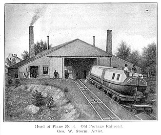 Allegheny Portage Railroad - Old Portage Railroad, a drawing by George W. Storm, 1839