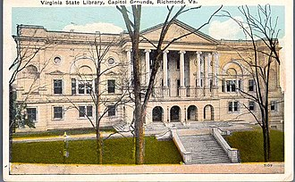 Oliver Hill Building - Virginia State Library-Oliver Hill Building, c. 1928