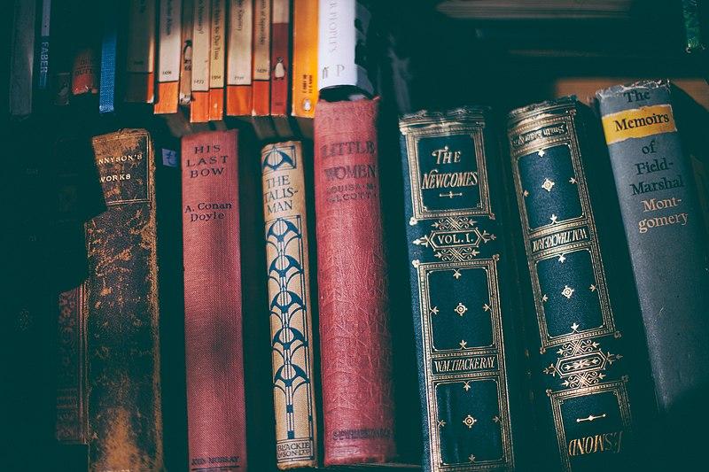 File:Old books on bookshelf. (Unsplash).jpg