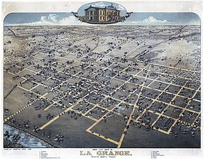La Grange, Texas - Map of La Grange, 1880