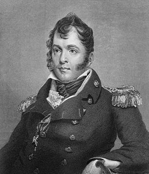 Oliver Hazard Perry - United States Navy engraved portrait of Commodore Perry