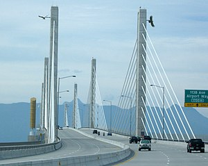 Golden Ears Bridge - Golden Ears Bridge from Langley
