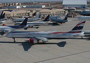 One-Two-GO Airlines - A One-Two-GO Boeing 757 in storage at the Victorville Airport.(Registration Number: HS-BTA)