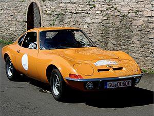 Opel GT - Image: Opel GT, Bj. 1973 am 16.07.2006
